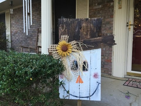How To Make Pallet Scarecrow Tutorial