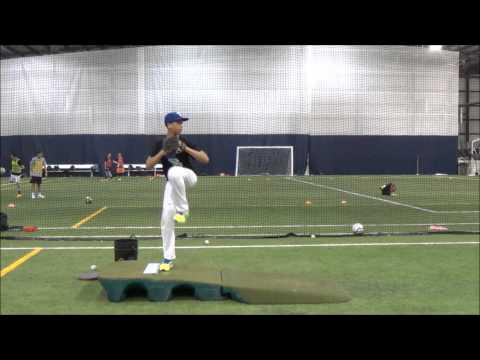 Kent Evans Jr Pitching Crete Monee High School/Midwest Rangers 2017
