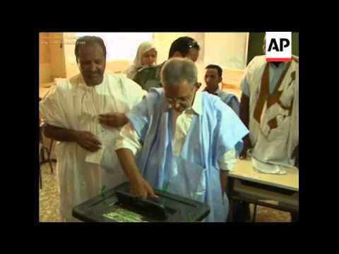 Leaders voting in Mauritania elections