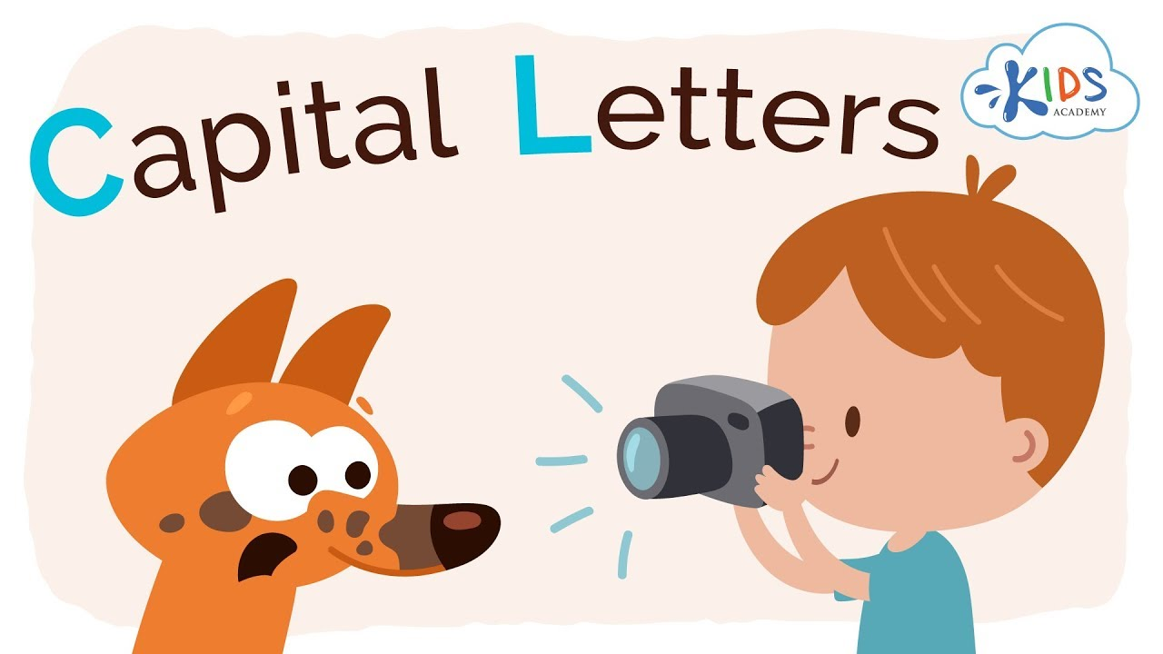 medium resolution of Capital Letters for Kids   Grammar for 1st Grade   Kids Academy - YouTube