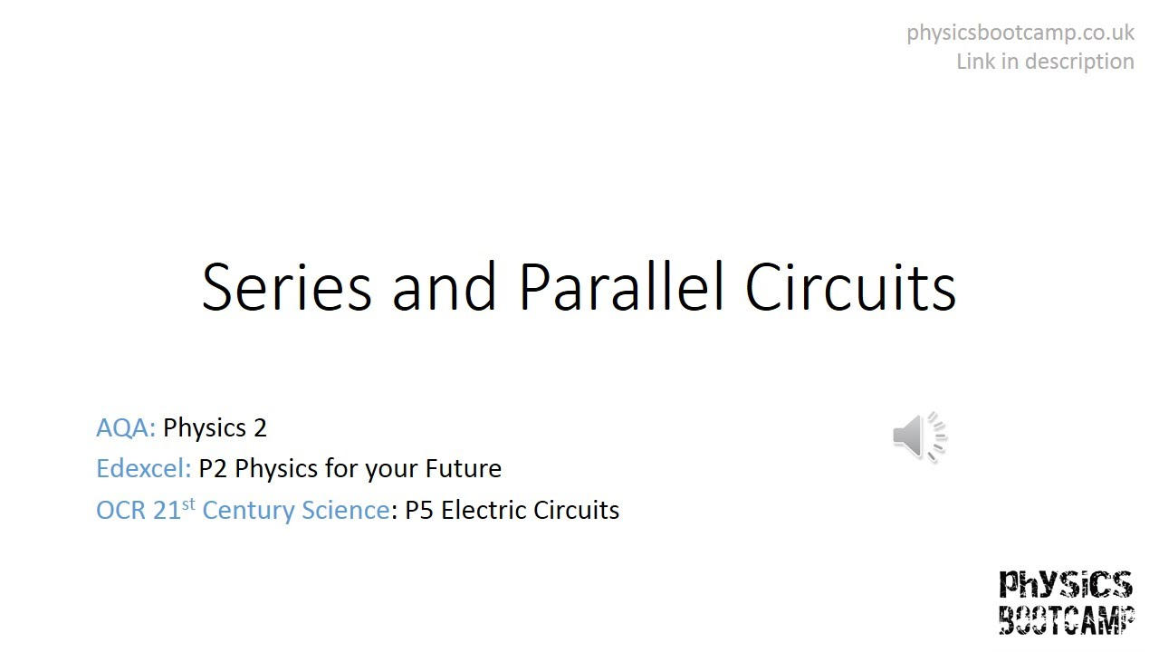 Gcse Physics Revision Series And Parallel Circuits Youtube Electric Circuit