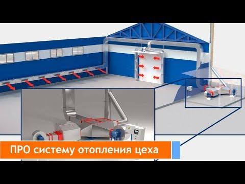 Система отопления производственных помещений.