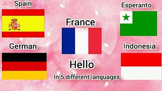"""how to say """"hello"""" in five different language