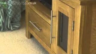 Rivermead Solid Oak Tv / Dvd / Vcr Cabinet From Oak Furniture Land