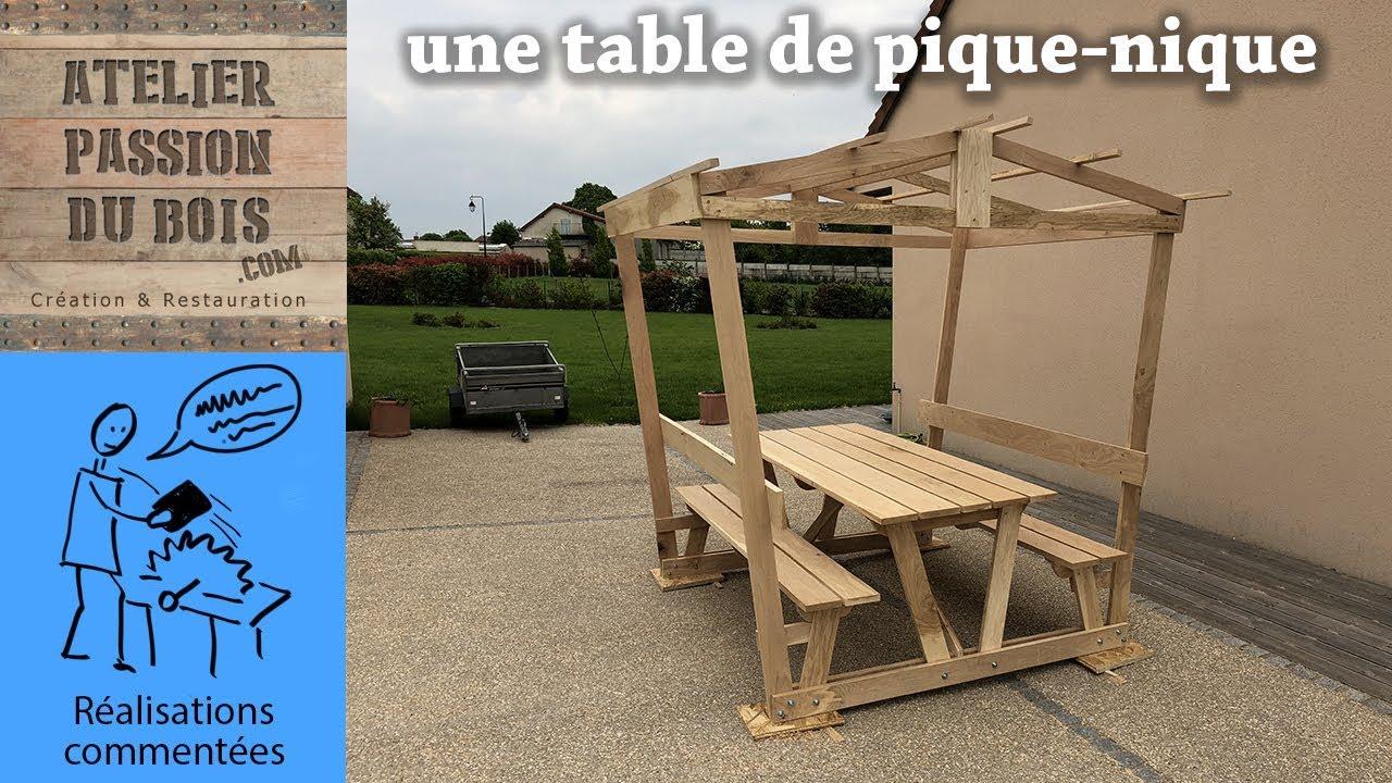 Extremement UNE TABLE DE PIQUE-NIQUE EN BOIS - YouTube XK-21