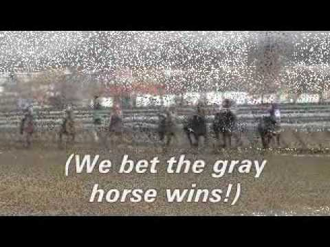 Pssst .... bet the gray horse!