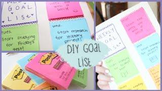Diy Back To School Weekly Goal List #diywithpxb