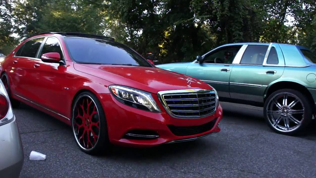 red maybach on forgiato wheels monte carlo on amani forged wheels youtube. Black Bedroom Furniture Sets. Home Design Ideas