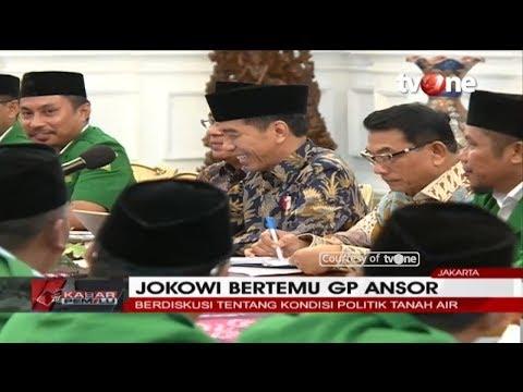 Presiden Jokowi Bertemu GP Ansor Bahas Kondisi Politik Tanah Air