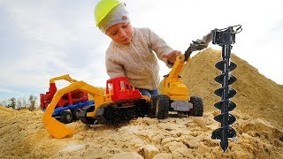 We play in a large Sandbox Bulldozer and a Drill. The present challenge is against...