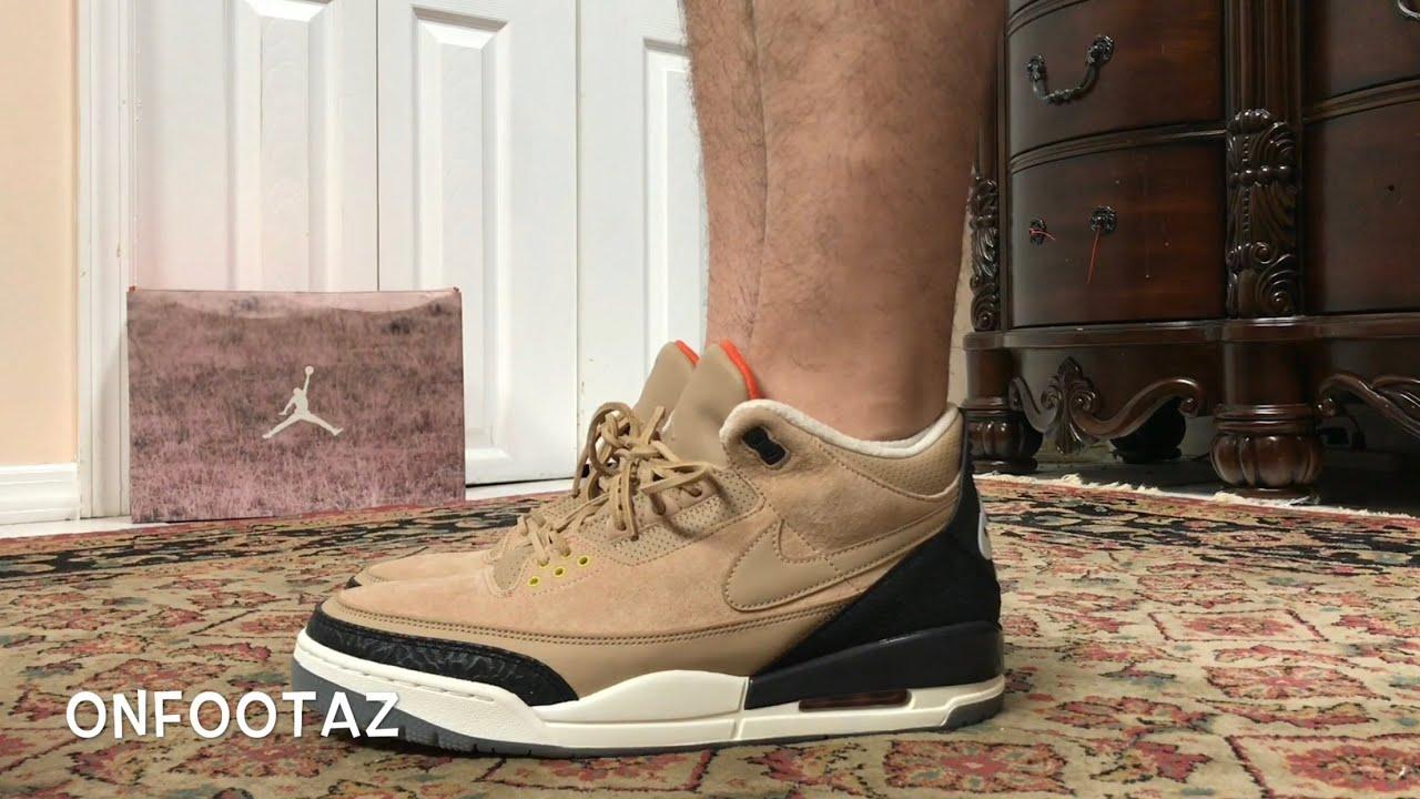 promo code 3d9ac ca972 Air Jordan 3 III JTH Justin Timberlake Bio Beige On Foot