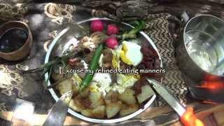 Filet Mignon with Bacon & Eggs on a Campfire