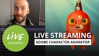 Live streaming with Adobe character animator