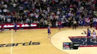 Rodney Stuckey sick game winner vs. Wizards (Mar 26, 2012)