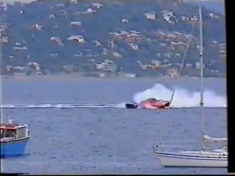 HUGE POWERBOAT CRASH,Bilba Crash with Victory7 OFFSHORE
