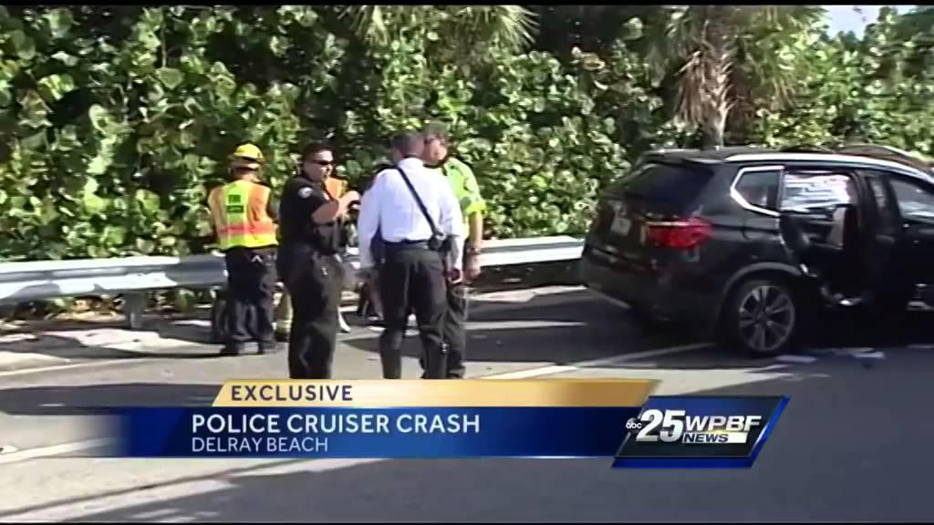 Florida Highway Patrol Investigates Vehicle Crash Involving Delray Beach Police Cruiser