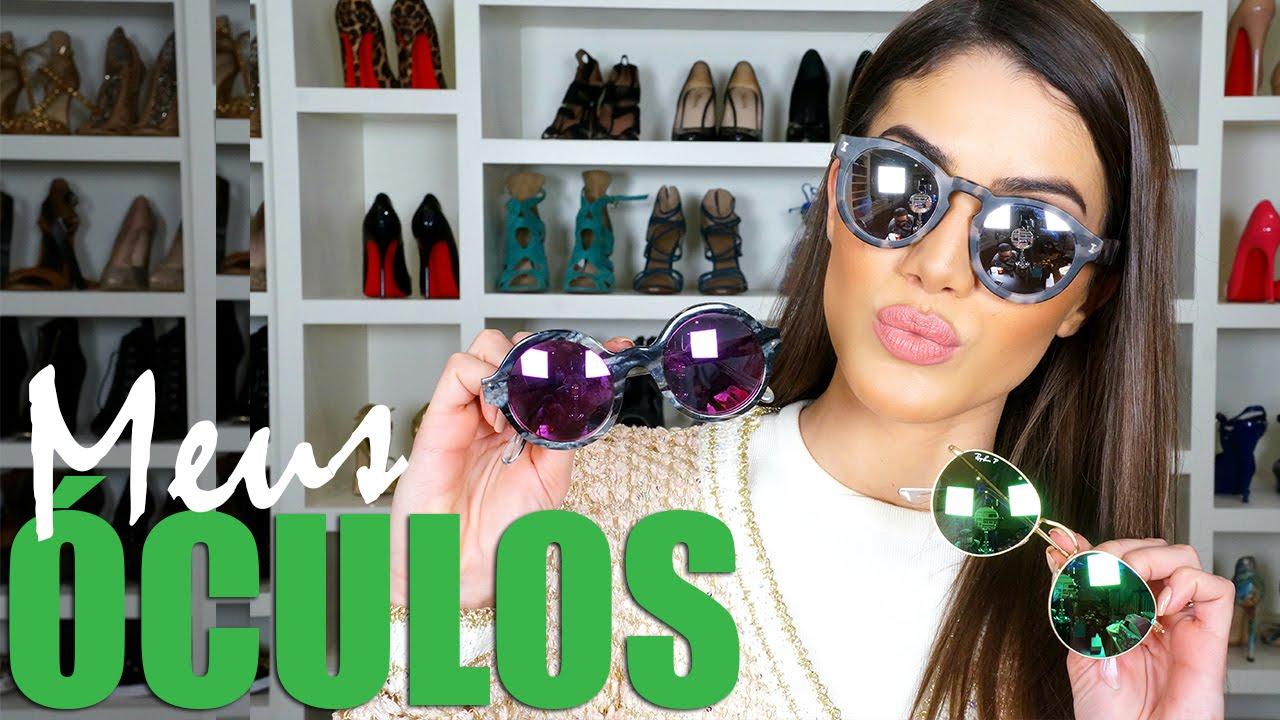 ac8fb120335a7 Verão  Minha coleção de Óculos! - YouTube