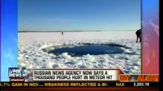 ✔10,000 Ton Meteor Leaves Crater In Russian Lake - Feb 15, 2013