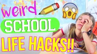 WEIRD Back to School Life Hacks You've NEVER Heard Of!!