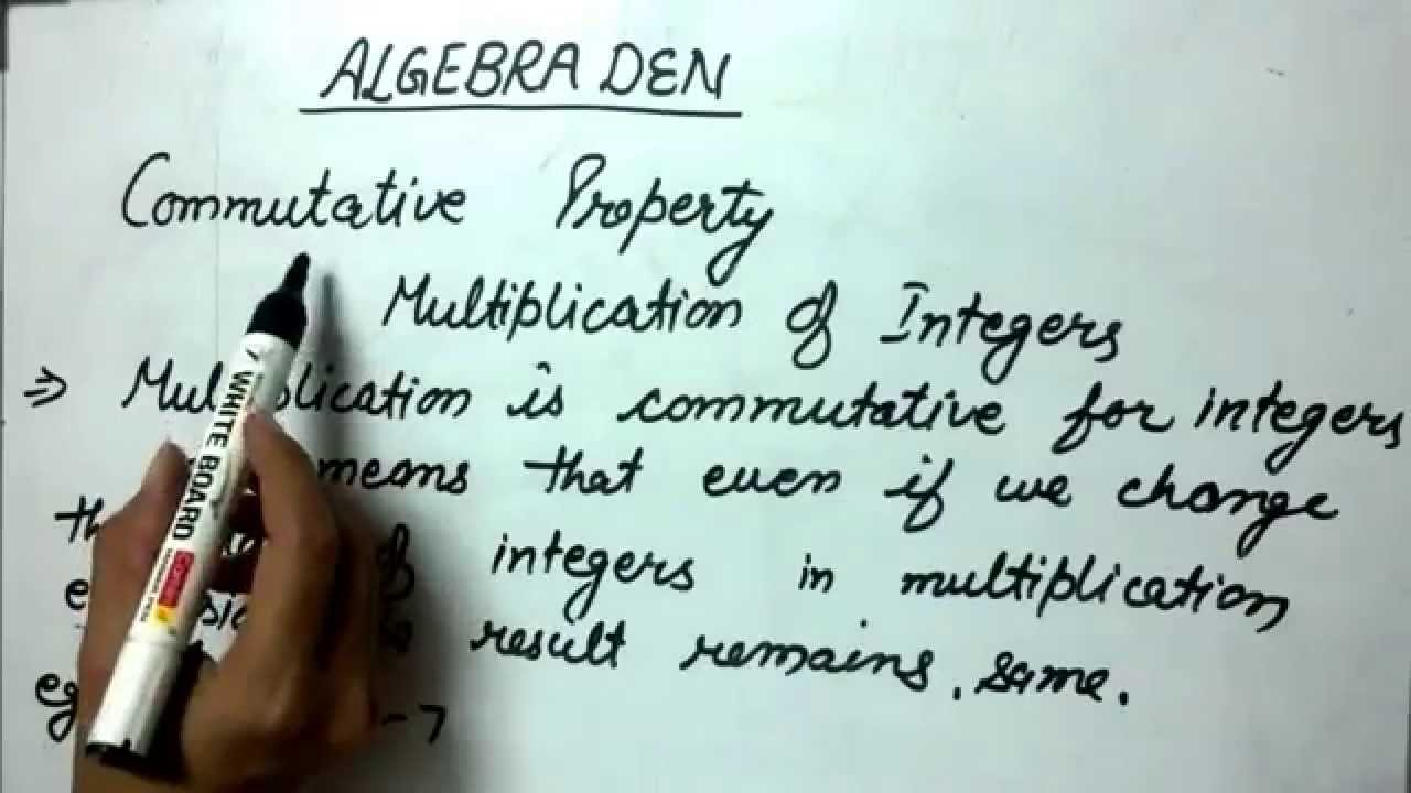 Commutative Property (Multiplication of Integers - Example 1) - YouTube