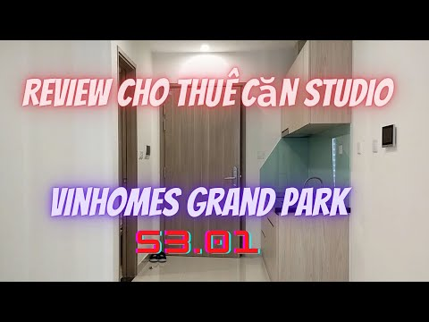 Cho Thuê căn hộ Studio Vinhomes Grand Park Quận 9. S3.01 - 33,6m2 giá 4,5tr/th