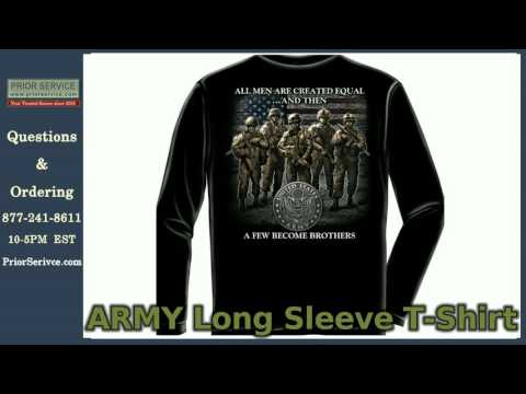 Long Sleeve Army, Navy, Air Force T-shirts| Prior Service