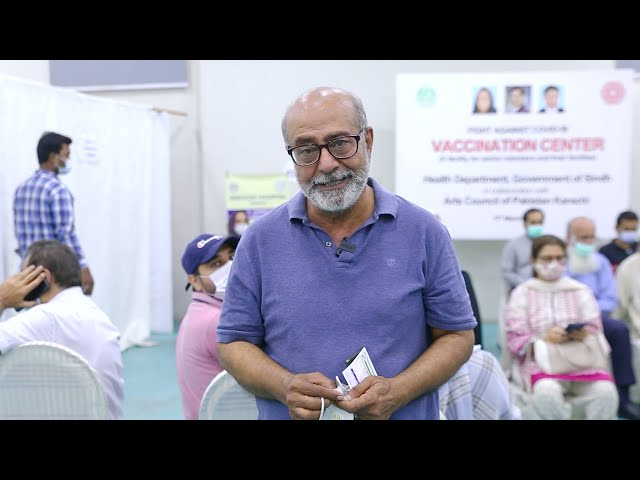 Mohammad Ahmed | Covid-19 Vaccination Centre | Arts Council Karachi #acpkhi #artscouncil #covid19
