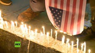 Iraníes queman bandera de EE.UU. durante vigilia en recuerdo del asesinado general Soleimani