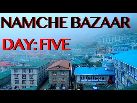 SOLO TREKKING EVEREST B.C. | Namche Bazaar Walking Tour | Rest Day | DAY FIVE