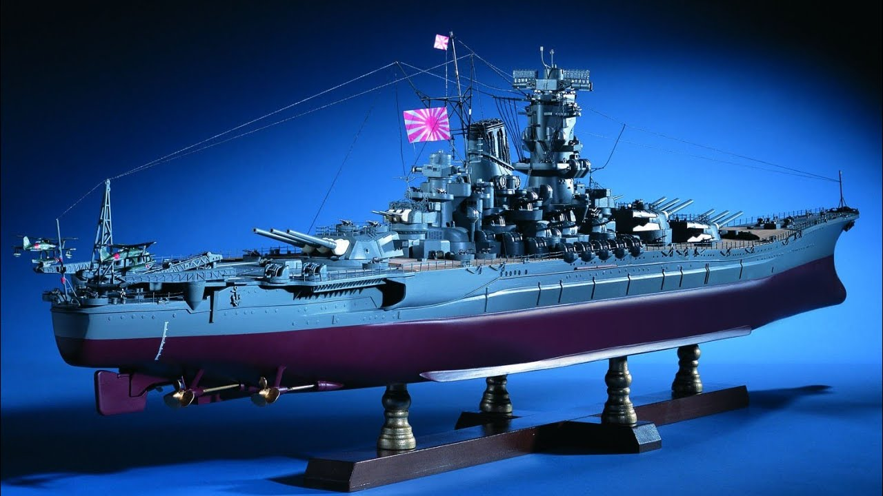 Model Space 1/250 battleship Yamato finished review