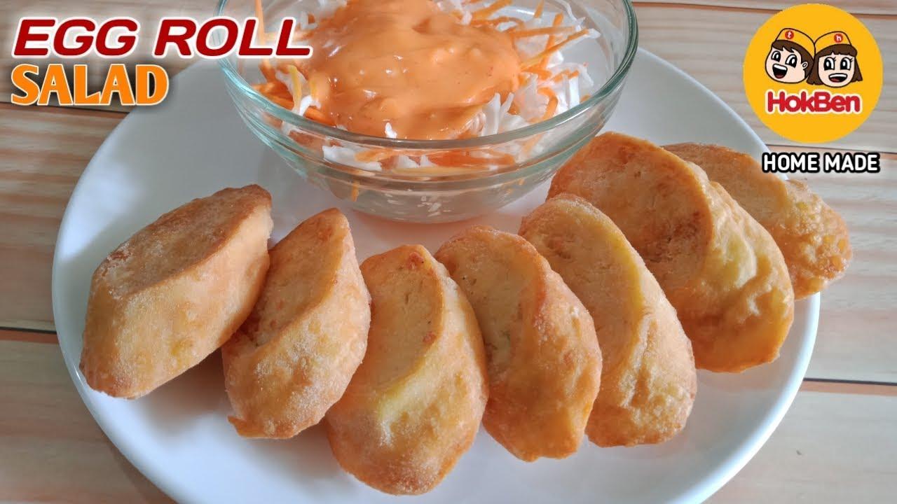 Chicken Egg Roll Dan Salad Ala Hokben Rasanya Mirip Banget Youtube
