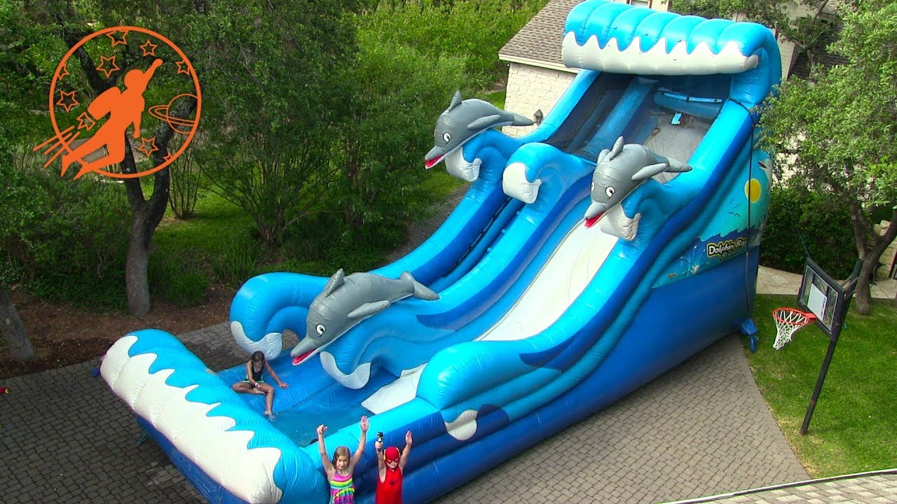 dff7f5e6856c Giant Inflatable Water Slide   Giant Inflatable Slip N Slide Outdoor Party  for Kids