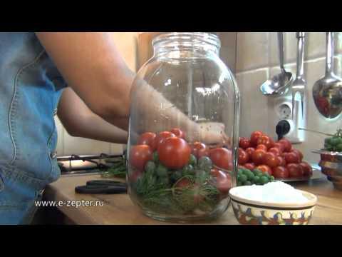 Помидоры, маринованные с виноградом / Pickled tomatoes with grapes  English subtitles без регистрации и смс