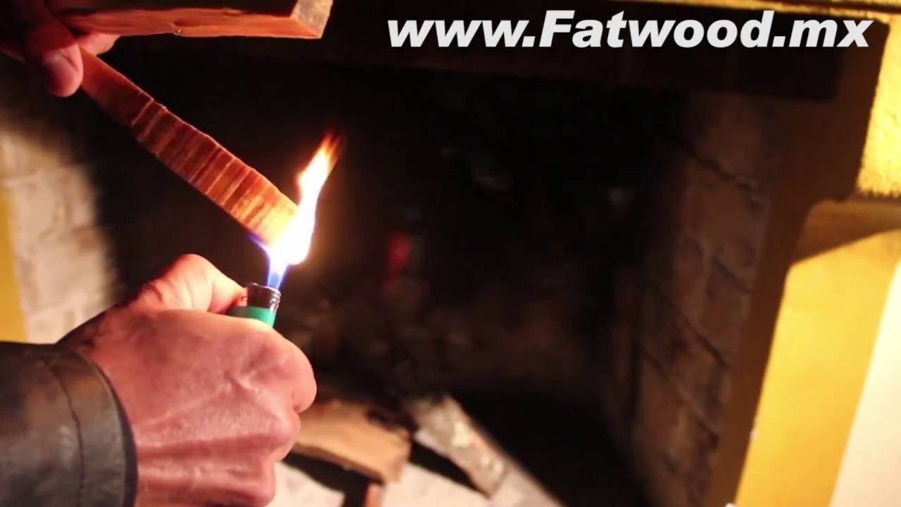 how to light mexican fatwood fire starter youtube