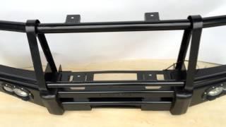 Обзор силового бампера переднего с ребрами жесткости TOYOTA LAND CRUISER 78
