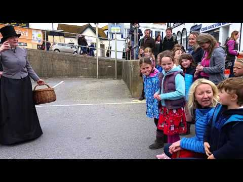 Mary Anning & Charles Darwin at Lyme Regis Fossil Festival 2016