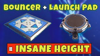 Using A Bouncer And A Launch Pad To Go Insanely High | Fortnite Battle Royale