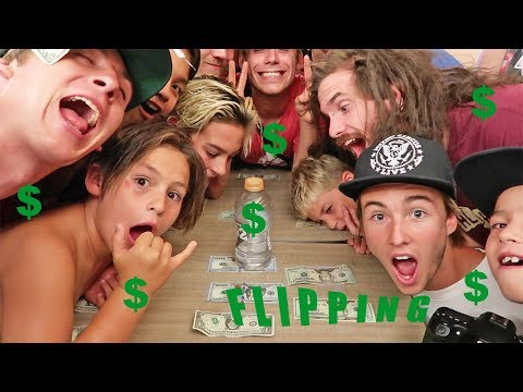 WATER BOTTLE FLIP CHALLENGE FOR MONEY!