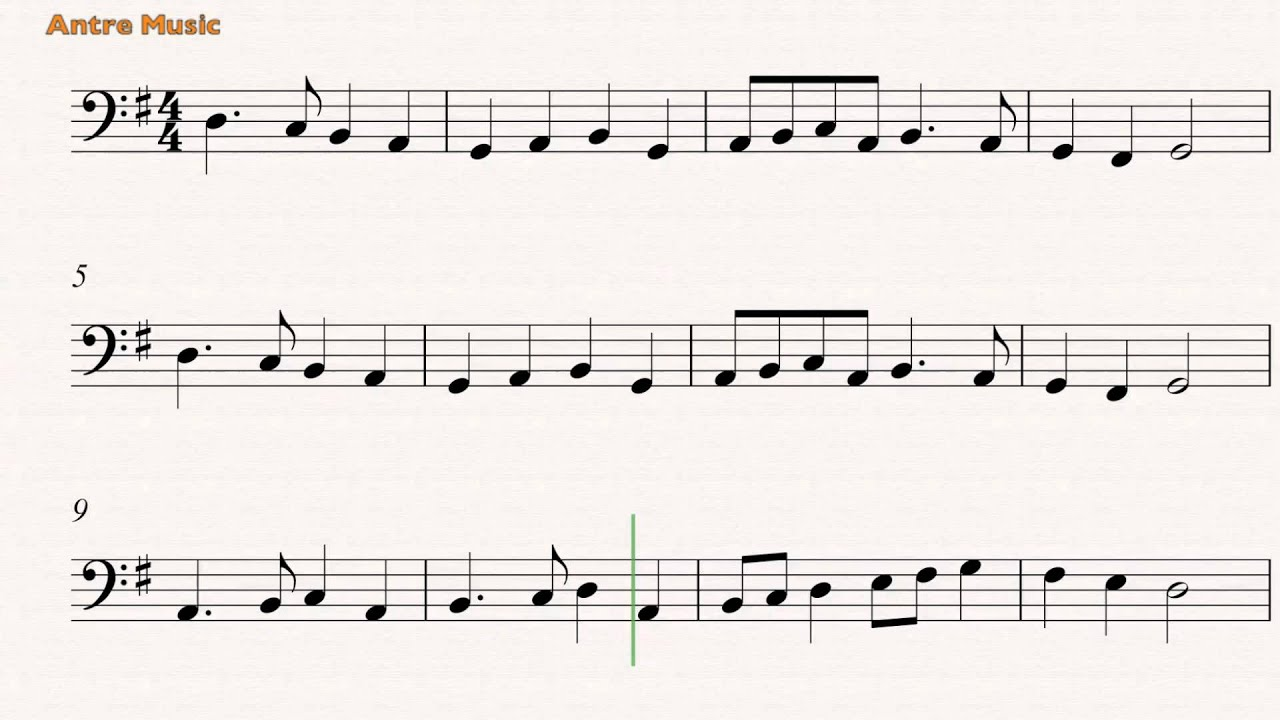 Deck the Halls- Cello sheet music - YouTube