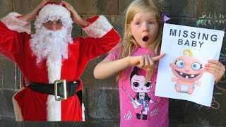 Lika and Toria Christmas Toys Adventure | Santa and Missing Baby