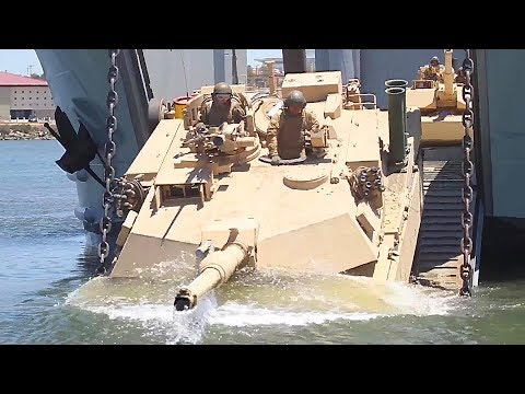Marines 4th Tanks Amphibious Training