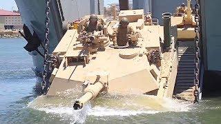 Marines 4th Tanks Amphibious Training