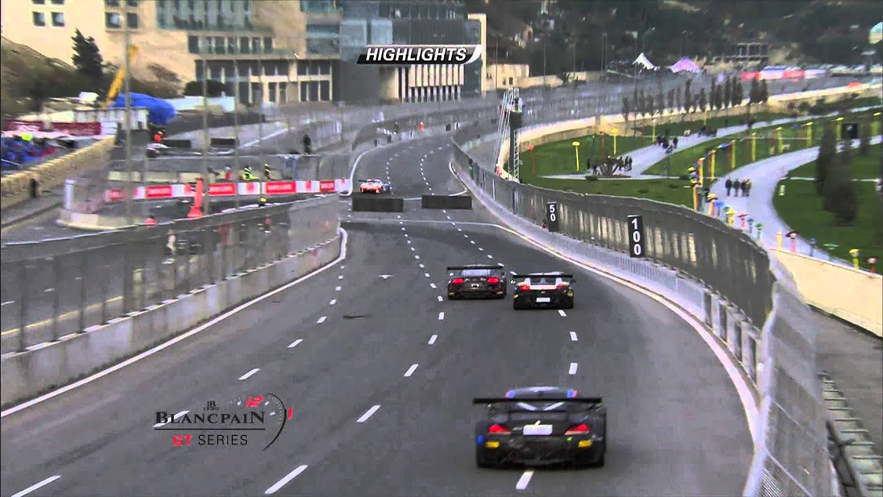 Blancpain Sprint Series - Baku - Qualifying Race - Short Highlights. - Motor Informed