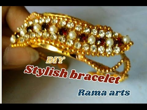 jewelry decor trendy rhinestones women cuff s gold details bracelet bangle metal