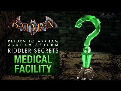 Batman: Return to Arkham Asylum - Riddler's Challenge - Medical Facility (All Collectibles)