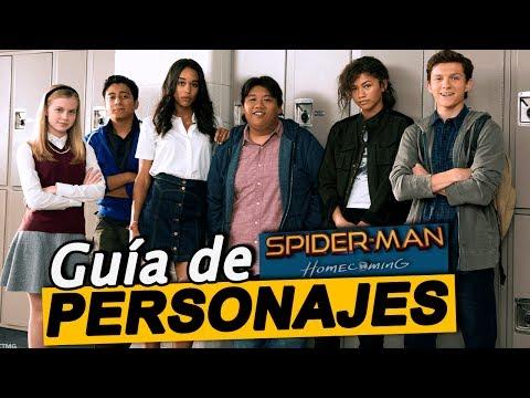 Guía de personajes de Spider-Man: Homecoming