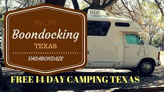 Boondocking Texas - 14 day Free Camping Soldiers Bluff Park - Fulltime RV Living