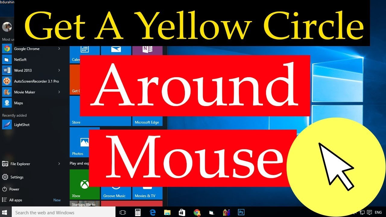 How To Get A Yellow Circle Around Your Mouse Cursor | Bangla