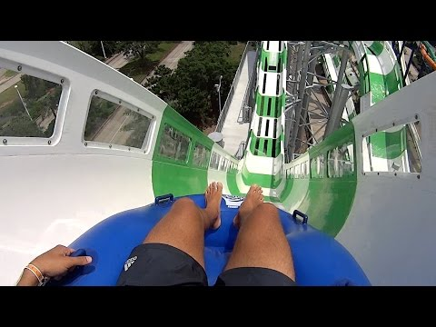 Massiv Monster Blaster Water Slide at Schlitterbahn Galvesto