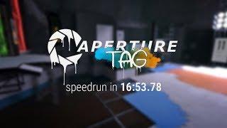 Aperture Tag speedrun in 16:53.78